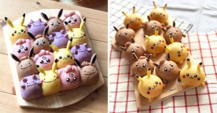 神人做出寶可夢麵包「一口一隻」小臉全黏一起 Q到粉絲暴動:不吃不是人!