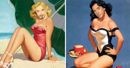 神人打造「小勞勃道尼版」絕世正妹照 「瑪麗蓮夢尼」性感度破表!
