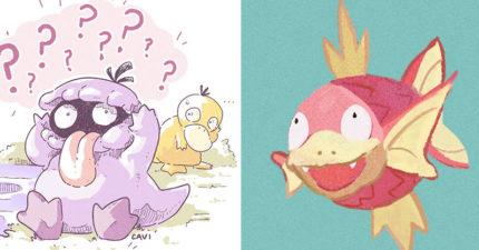 神人創手繪版「寶可夢合體器」引暴動 粉絲看到「可達鴨+噴火龍」笑翻:表情太可愛❤