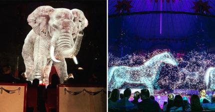 歷史第一次!馬戲團用「實境投影」取代動物 「超魔幻效果」被讚爆:金魚在眼前游❤