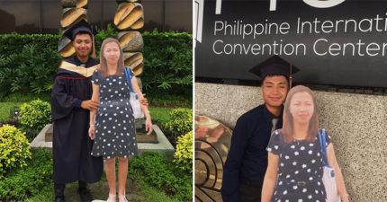 男大生抱著「媽媽的人形立牌」參加畢業典禮 努力完成「最後心願」讓網淚崩QQ