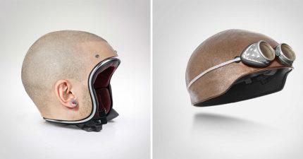 100%神還原的「光頭安全帽」獵奇上市 網笑:帶這頂可以發大財!