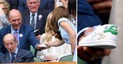 溫布頓「神秘爺爺」送小球鞋給凱特 網起底「真實身分」嚇壞:他最有資格送!