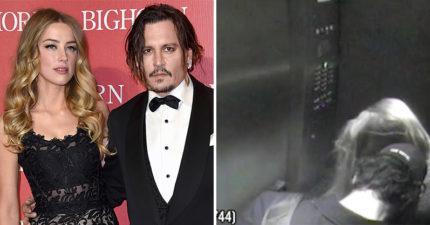 影/強尼戴普曝前妻「帶小王回家」證據片 電梯親密依靠...竟是好萊塢知名男星!
