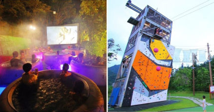 首創「露天泡泡浴電影院」在台灣!超狂飯店內建「攀岩、自由落體」不用出國就像玩遍泰國~