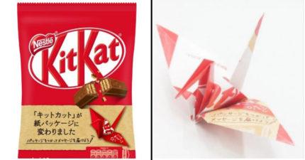 日大推「吃完以後能變成紙鶴」的巧克力包裝 揭開背後「暖心設計」被讚爆:地球有救了!