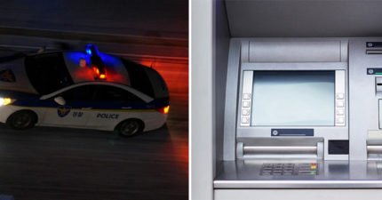 他在銀行領20萬...ATM竟開始大叫!5分鐘後「瞬間被3台警車包圍」傻眼 網:台灣警察了不起
