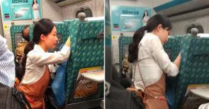 高鐵正妹服務員「安撫乘客」畫面曝光 她「跪著幫擦眼淚」被10萬人讚爆:人美心更美!