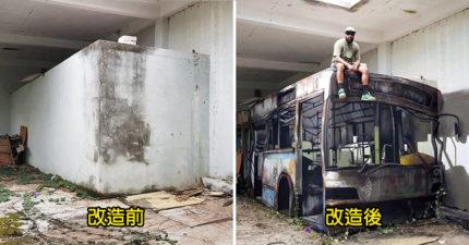 16個超神藝術家打造的驚人3D彩繪 水泥牆秒變「可以進去的公車」近看細節超狂:真的被騙了