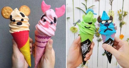 史上最可愛「迪士尼卡通冰淇淋」就在台灣!米奇米妮超人氣 帥到爆「蜘蛛人」神還原超能力❤
