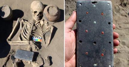 考古團隊竟挖出「史前智慧型手機」?專家揭開「2137年歷史真相」:是有錢遊牧民族的腰帶