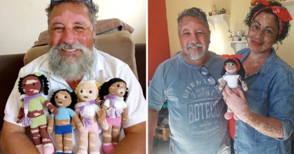 「白斑病爺爺」手工織娃娃 設計「特殊斑紋」讓孩子變更勇敢