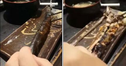 影/日網友傳授「秋刀魚」的正確吃法 20秒「骨肉分離神技」網驚嘆:原來要這樣吃!