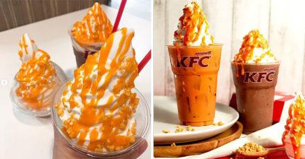肯德基推出「鹹蛋黃系」限定美食 粉絲看到「鹹甜版泰奶」完全忍不住:泰生火!