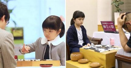 日本10歲圍棋女孩爆紅!天才國小生「KO大人選手」破紀錄 超殺瞪眼萌翻全網❤