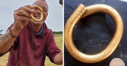 幸運男在農田挖出「22k金手環」 以為是「一般金屬」專家卻爆:市價超過40萬!