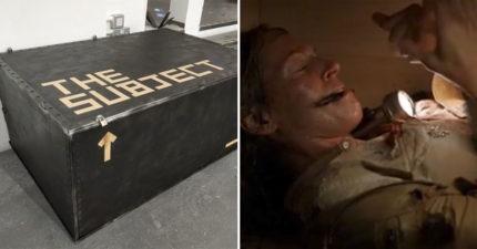 研究生做出「全世界最小密室逃脫」致敬電影 場地曝光只有「一口棺材」超刺激!