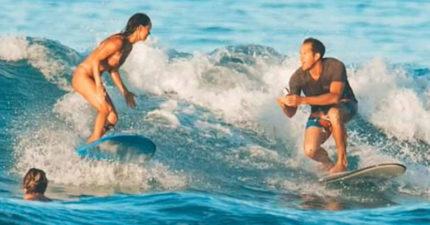 衝浪男浪漫求婚「戒指卻掉到海裡」嚇壞女友 他最後使出「聰明絕招」讓結局大逆轉!
