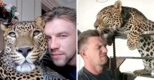 獵豹跟離職的飼育員「感情太好」思念到吃不下飯...最後他霸氣帶回家養!