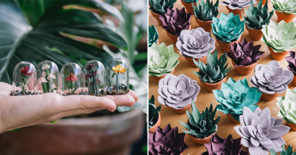 西班牙神級「摺紙藝術家」驚艷百萬粉絲 超猛「紙盆栽」讓你一秒置身花店!