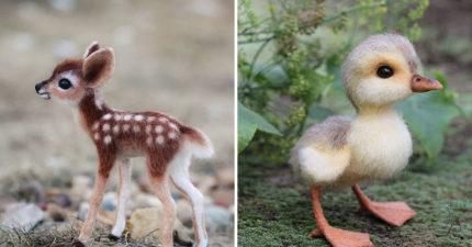 藝術家用「羊毛氈」還原超萌小動物 網一見「炯炯眼神」驚:好像會呼吸!