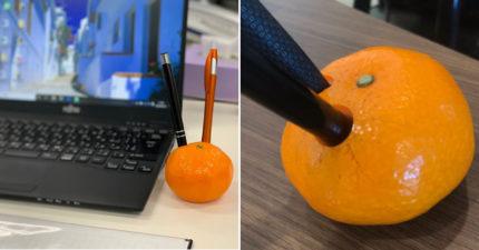 不是陳時中的麥克風!超療癒「橘子筆筒」擺在桌上絕對被誤會 還有剝皮版本