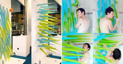 智慧型省水浴簾「洗澡超過4分鐘」直接「無情變尖」把你戳出去!