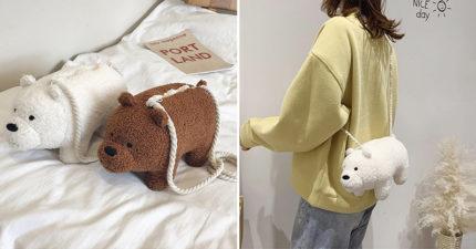 熊熊遇見你「超萌側背包」猛男都心動 捲捲泰迪毛「只要小資價」韓妞搶爆!