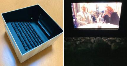 武漢肺炎不敢去電影院...神網友「自製迷你廳」超精緻 手機變大銀幕!
