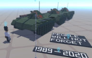最勇敢的中國人做「坦克人模型」紀念六四:人們不會忘記