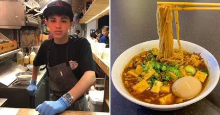 美國小帥弟靠「特製拉麵」全球爆紅 「招牌菜單」有超濃台灣味