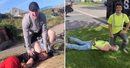 屁孩流行「黑人被跪死」挑戰 模仿「斷氣動作」馬上被警察上銬!