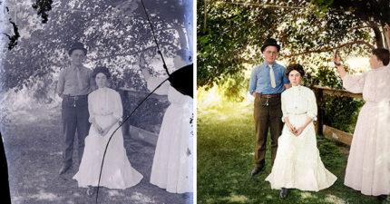 他花「1000小時」修復百年照片 完美還原「林肯談公事」場景