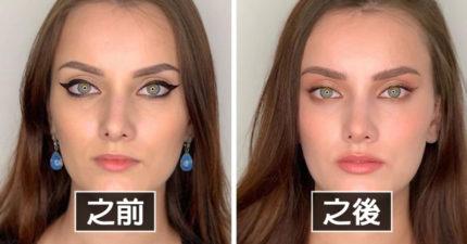化妝師證明「你不能當名模」只差在細節!現在還畫粗眼線就糟了