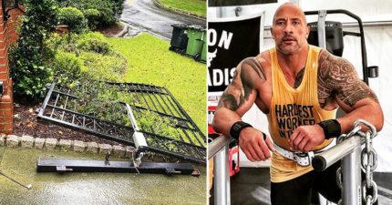 巨石強森為上班「徒手拆了自家鐵門」 保鑣全嚇傻:只用了單手