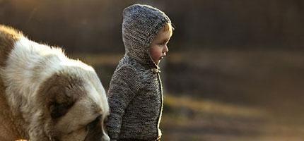 這名俄羅斯母親拍出最美麗的孩子與狗之間的互動。太神奇了!
