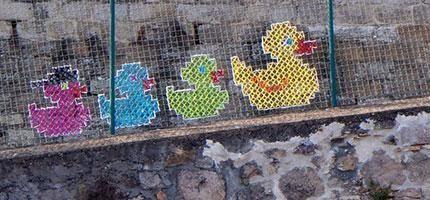 Urban-X-Stitch的刺繡街頭藝術