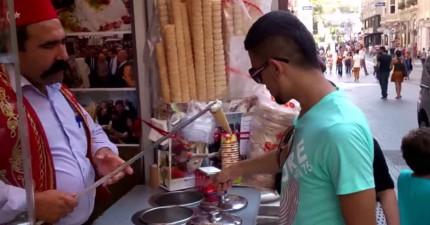土耳其冰淇淋魔術