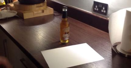 用紙開酒瓶