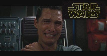 當馬修麥康納看到最新的《星際大戰VII》的預告片時,精采片段讓他看得忍不住淚流滿面。