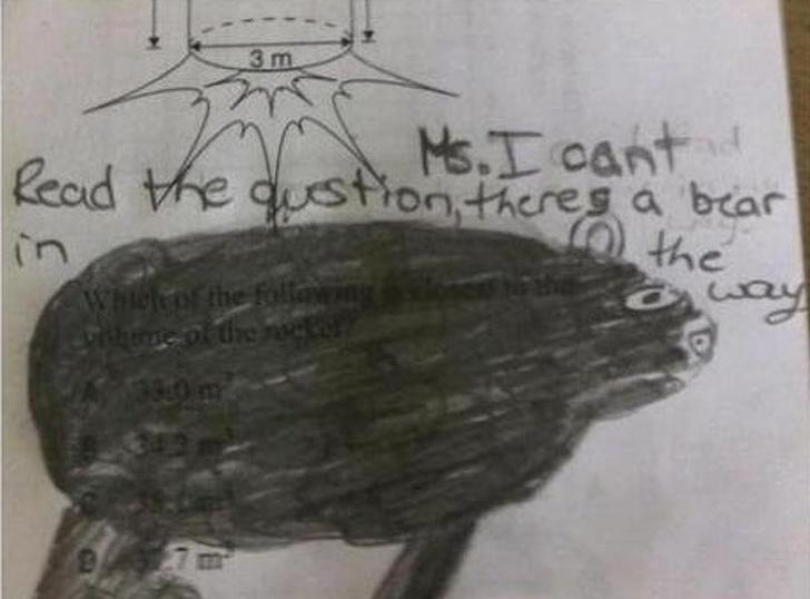 来见识一下外国小孩的惊人作业-黑白漫话