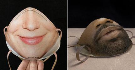 國外推「把自己的臉印上去」客製化口罩 讓手機「臉部解鎖」不失靈!
