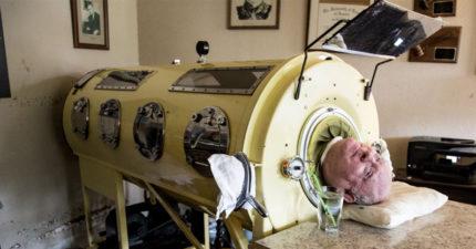 69年來活在鐵桶裡!他忍呼吸痛苦 靠驚人毅力上課「考上律師」
