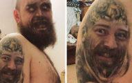 30張「跟刺青玩換臉」崩壞照 他慘變「無臉男」嚇壞大家!