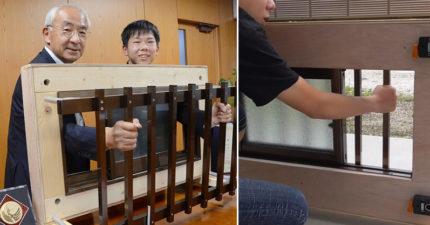 火災時鐵窗阻逃生!15歲童不想京阿尼慘劇重演 發明「內拆鐵窗」獲獎