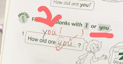 小一女英文作業「y」被圈錯 媽媽看到傻眼:懷疑人生